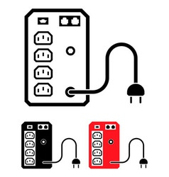Ups uninterruptible power supply icon vector