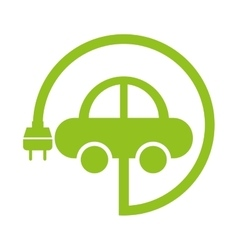 Car ecology isolated icon vector
