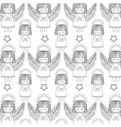 angel and star background vector image