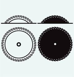 Industrial circular saw disk vector image