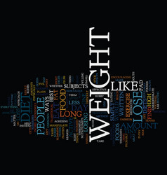 Lose weight a few thoughts text background word vector