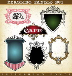 Decorative frames and panels vector