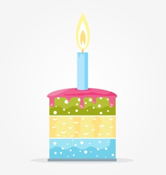 Cake with candle vector