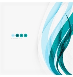 Clean blue wave lines on white vector image