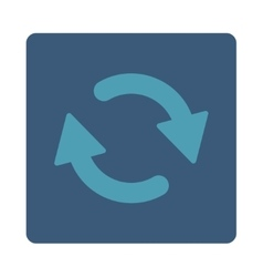 Refresh flat cyan and blue colors rounded button vector