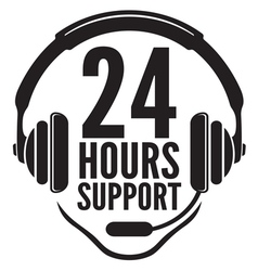 24 hours support2 vector image