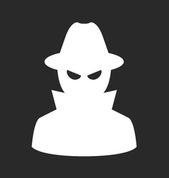 Undercover agent - private detective or spy in hat vector