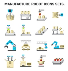 Robot manufacture icon vector