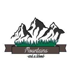 Mounitains color emblem vector