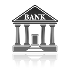 Bank building financial concept vector
