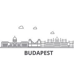 budapest architecture line skyline vector image
