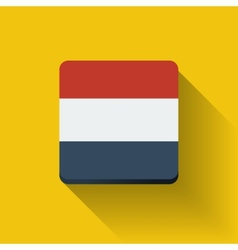 Button with flag of Netherlands vector image vector image