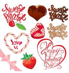 calligraphy sweet set 380 vector image
