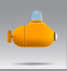 Cartoon submarine realistic submarine on white vector