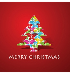 Colorful butterflies make a christmas tree vector image