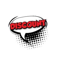 Comic text discount sound effects pop art vector