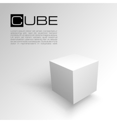 Cube isolated on white background Shipping or vector image