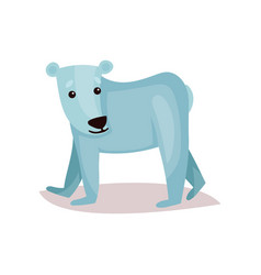 cute polar bear cub cartoon vector image vector image