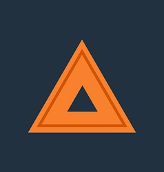 Emergency warning triangle vector