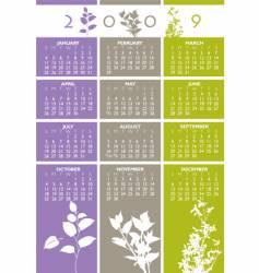 Floral calendar vector