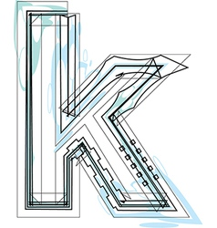Font letter k vector image vector image
