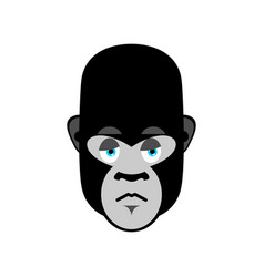 gorilla sad emoji monkey dull emotion isolated vector image vector image