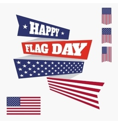 Happy flag day badge vector