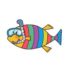 icon fish vector image vector image