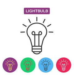Lightbulb isolated line icon pictogram vector