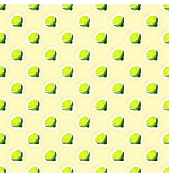Pattern Background with Limes vector image vector image