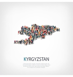 People map country kyrgyzstan vector