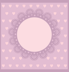 Pretty pink card for girls vector