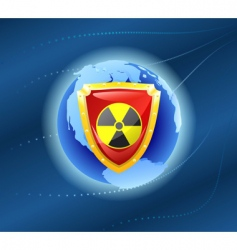 radiation shield vector image