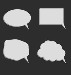 speaking balloons vector image