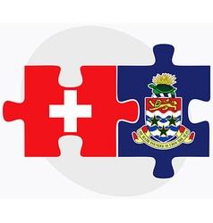 Switzerland and cayman islands vector