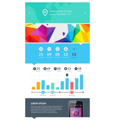 Ui web design set vector