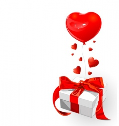 valentine gift vector image