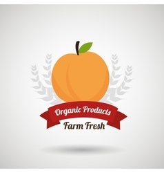 Farm fresh food symbol vector