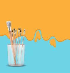 Art painting brush design background vector