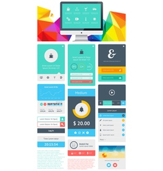 Ui is a set components featuring the flat design vector