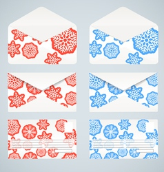 Christmas envelopes collection vector