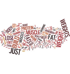 Lose weight and build muscle the right way text vector