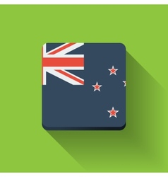 Button with flag of New Zealand vector image