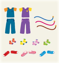 Child clothes boy and girl set vector