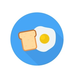 Egg with bread icon vector