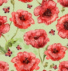 Seamless texture with watercolor painting of vector