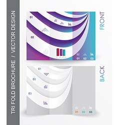 Brochure design with 3d elements vector
