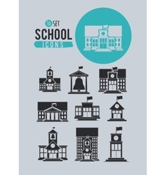 Set school icons design vector