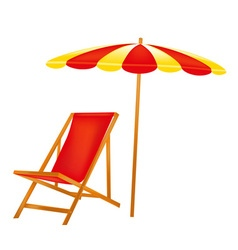Chaise lounge vector