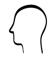 Silhouette icon human head design graphic vector